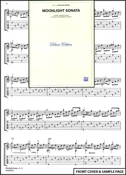 Moonlight Sonata Classical Guitar TAB Sheet Music NEW : eBay