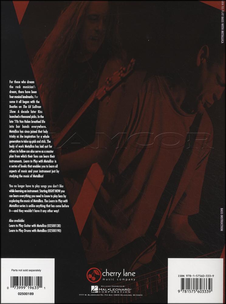 Hal Leonard Learn to Play Guitar with Metallica Book/CD ...