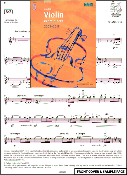 Violin Exam Pieces 2012-2015, ABRSM Grade 2, Score, Part and CD: Selected from the