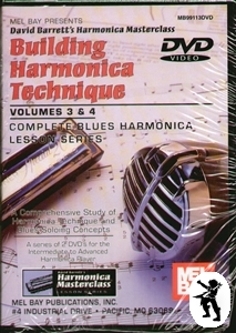 Building Harmonica Technique Volumes 3+4 DVD NEW Enlarged Preview
