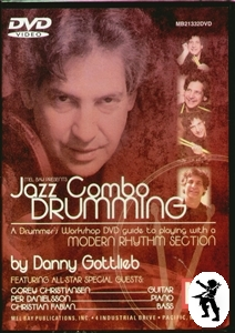 Jazz Combo Drumming Danny Gottlieb Drum Tuition DVD NEW Enlarged Preview