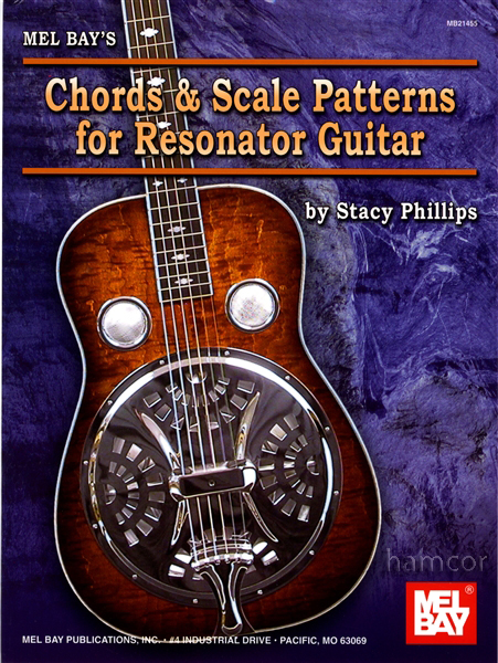 Chords & Scale Patterns for Resonator Dobro Guitar Chart Closed & Open Strings Enlarged Preview