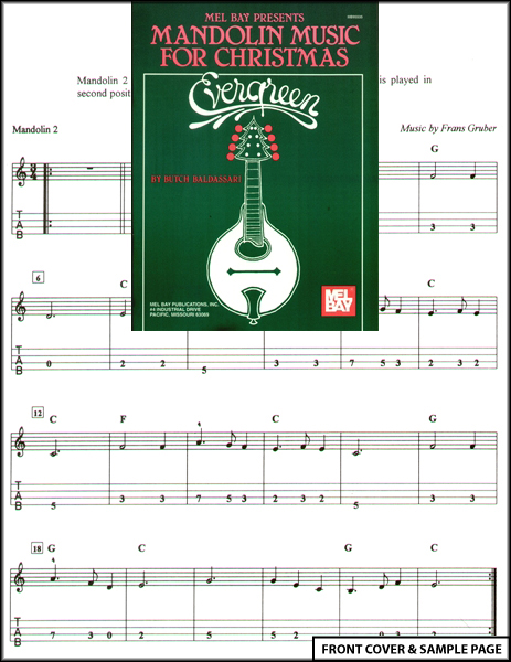 Mandolin Music for Christmas Evergreen TAB Sheet Music : eBay