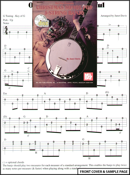 Christmas Songs for 5 String Banjo TAB Sheet Music CD : eBay