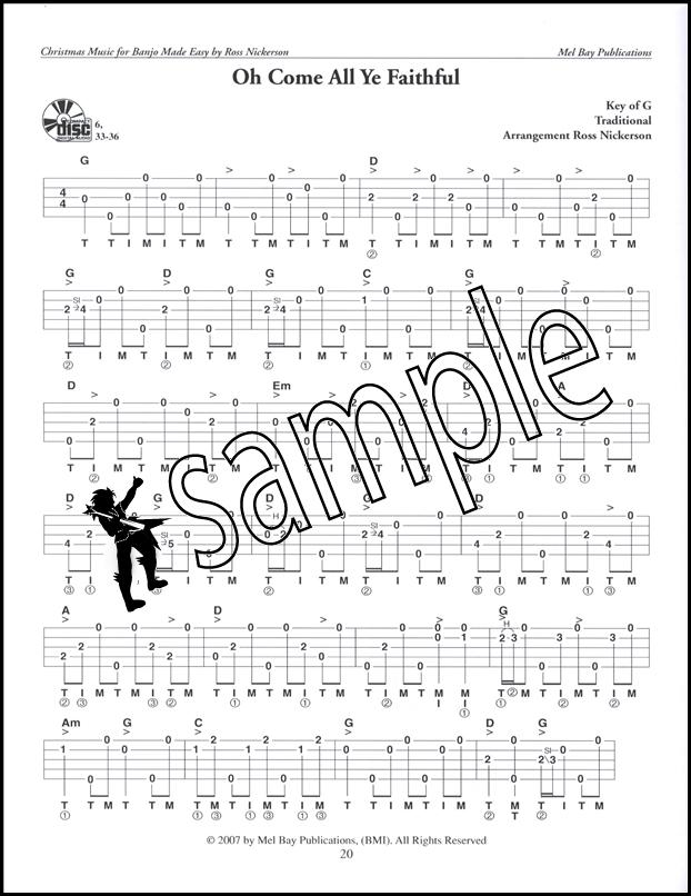 Christmas Music for Banjo Made Easy 5-String Banjo TAB Music Book : eBay