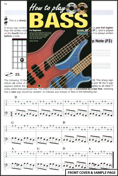 how to play bass guitar for beginners tab dvd cd learn ebay. Black Bedroom Furniture Sets. Home Design Ideas