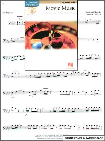 movie music for trombone sheet music book cd new ebay. Black Bedroom Furniture Sets. Home Design Ideas