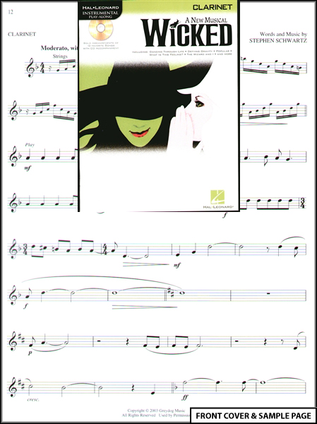 defying gravity wicked sheet music. Wicked A New Musical for