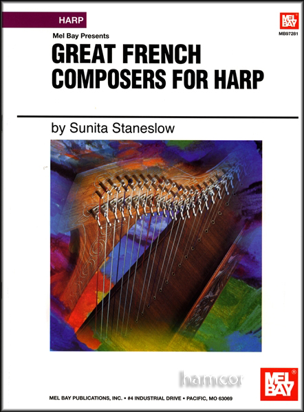 Great French Composers for Harp Sheet Music Book by Sunita Staneslow Enlarged Preview