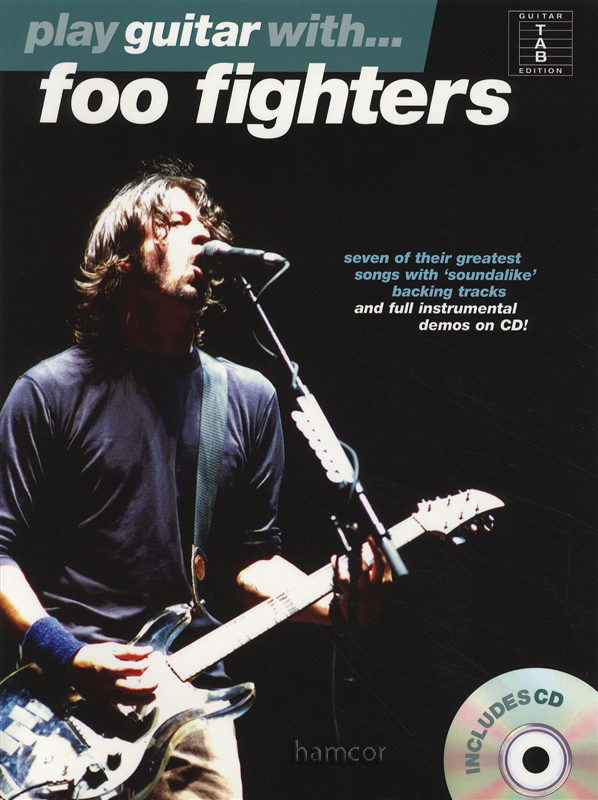 play guitar with foo fighters tab music book play along backing tracks cd ebay. Black Bedroom Furniture Sets. Home Design Ideas