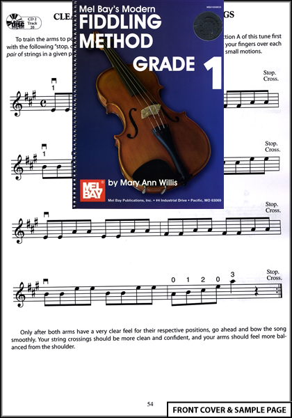 Mel Bay's Modern Fiddling Method Grade 1 Book +2CDs NEW Enlarged Preview