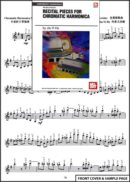 Recital Pieces for Chromatic Harmonica Sheet Music Book Enlarged Preview