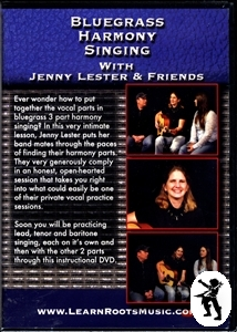 Bluegrass Harmony Singing Jenny Lester Tuition DVD NEW Enlarged Preview