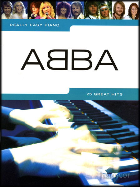 Really Easy Piano ABBA Sheet Music Book Songbook Enlarged Preview