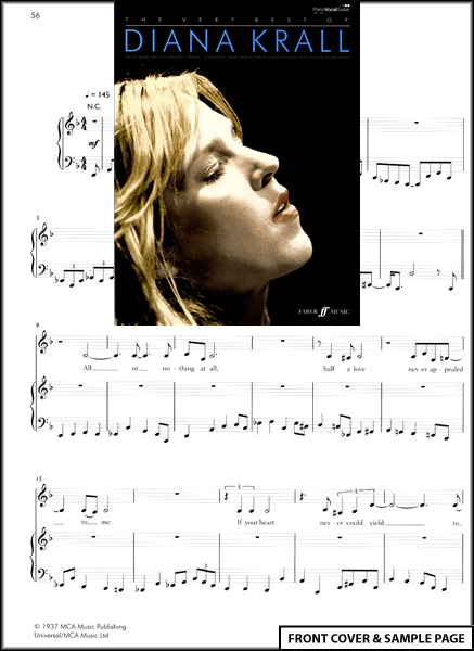The Very Best of Diana Krall Piano Vocal Guitar Book Enlarged Preview