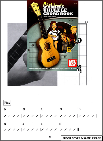 Children's Ukulele Chord Book Kids Learn to Play Uke Enlarged Preview