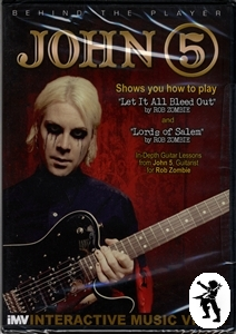 John 5 Behind the Player Rob Zombie Guitar Tuition DVD Enlarged Preview