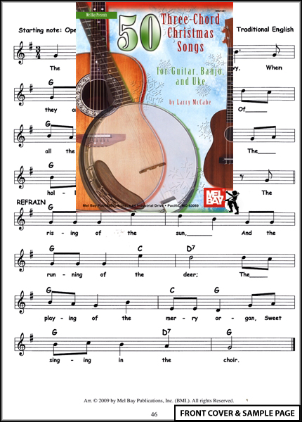 50 Three Chord Christmas Songs for Guitar Banjo Ukulele