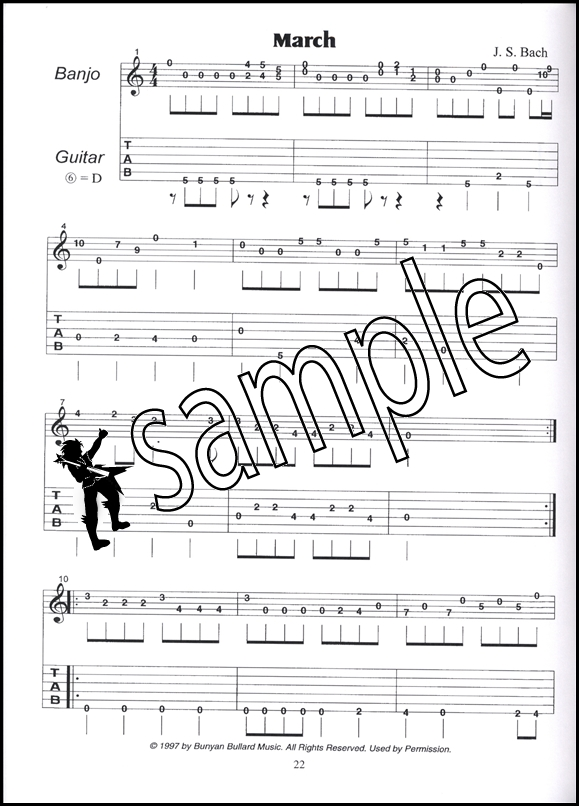 Bach for the Banjo 5-String Banjo TAB Music Book by John Bullard