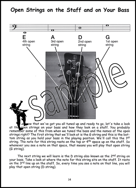 electric bass guitar for the young beginner learn how to play music book cd ebay. Black Bedroom Furniture Sets. Home Design Ideas