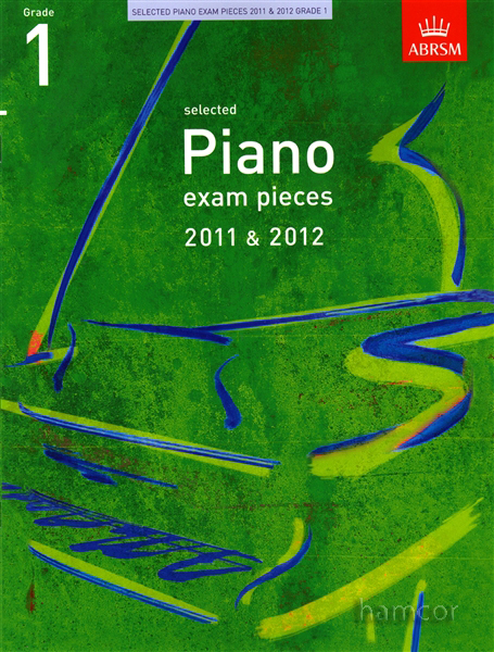 Piano Exam Pieces 2011-2012 Grade 1 ABRSM Exam Sheet Music Book Enlarged Preview