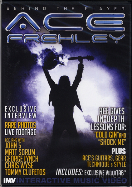 Ace Frehley Behind the Player Guitar Tuition DVD Enlarged Preview