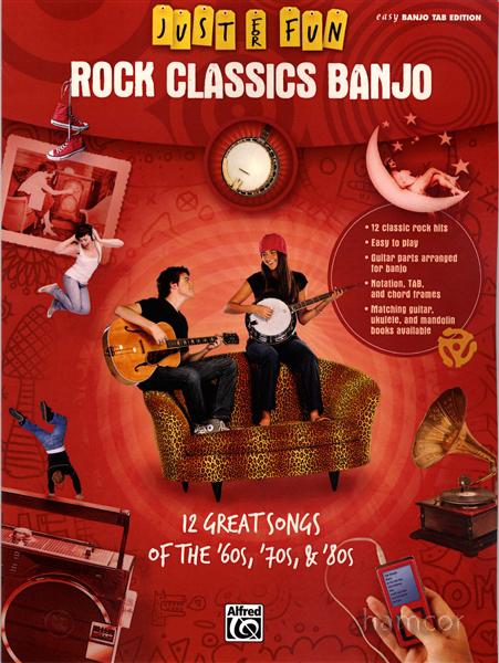 Just for Fun Rock Classics Banjo Easy TAB Book : eBay