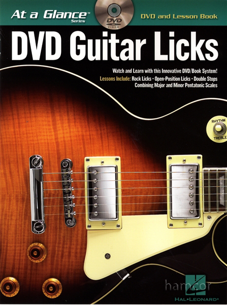 DVD Guitar Licks at a Glance with TAB Lesson Book Enlarged Preview