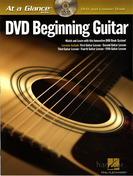 DVD Beginning Guitar at a Glance with TAB Lesson Book Enlarged Preview
