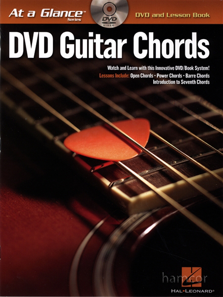 DVD Guitar Chords at a Glance with TAB Lesson Book Enlarged Preview