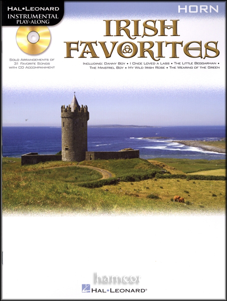 Irish Favorites Horn Playalong Sheet Music Book +CD Enlarged Preview