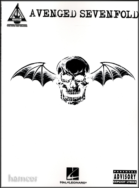 Avenged Sevenfold Guitar Recorded Versions TAB Book Enlarged Preview