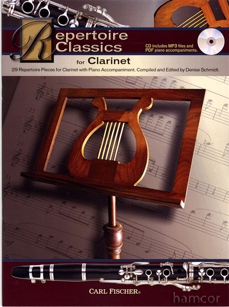 Repertoire Classics for Clarinet Music Book +CD Enlarged Preview