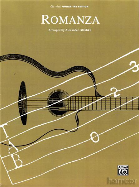guitar tabs sheets. Romanza Classical Guitar TAB