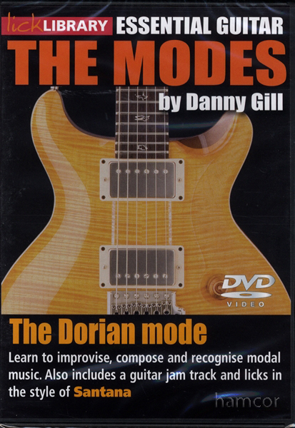 The Dorian Mode Lick Library Guitar DVD Santana Style Enlarged Preview