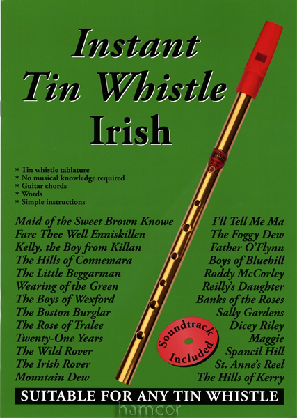Instant Tin Whistle Irish Learn to Play Music Book +CD Enlarged Preview