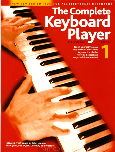 The Complete Keyboard Player Book 1 Kenneth Baker Learn How to Play Tutor Method Enlarged Preview