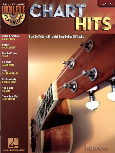 Chart Hits Ukulele Play-Along Chord Songbook with CD Enlarged Preview