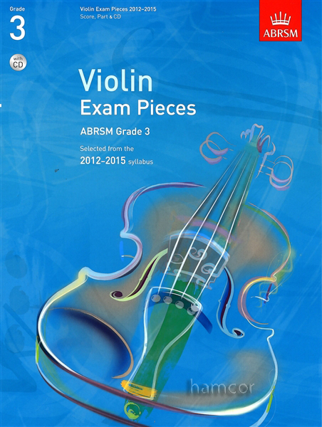 Violin Exam Pieces 2012-2015 ABRSM Grade 3 Score Part & CD Sheet Music Book Enlarged Preview