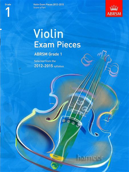 Violin Exam Pieces 2012-2015 ABRSM Grade 1 Score & Part Sheet Music Book Enlarged Preview