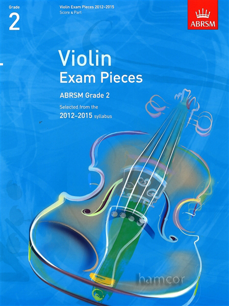 Violin Exam Pieces 2012-2015 ABRSM Grade 2 Score & Part Sheet Music Book Enlarged Preview
