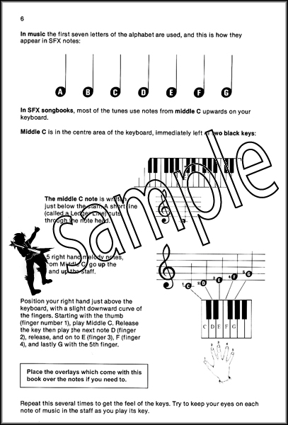Start Playing Keyboard The SFX Tutor Book with Stickers : eBay