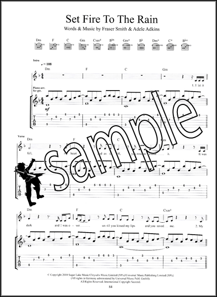 Harmonica harmonica tabs popular songs : The Best of Adele for Guitar TAB Sheet Music Book Pop Songs from ...