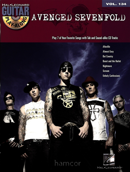 Avenged Sevenfold Guitar Play-Along Vol 134 TAB Tablature Sheet Music Song Book Enlarged Preview