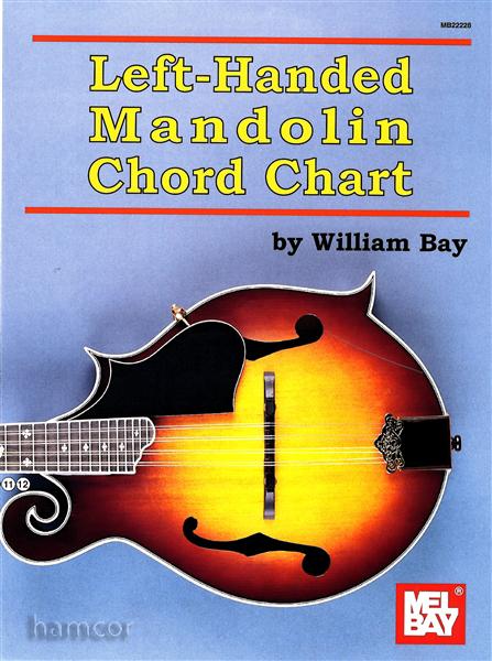 Left Handed Mandolin Chord Chart by William Bay with Fingerboard Diagram Mel Bay : eBay