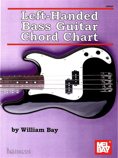 Left Handed Bass Guitar Chord Chart by William Bay Fingerboard Diagram Mel Bay Enlarged Preview