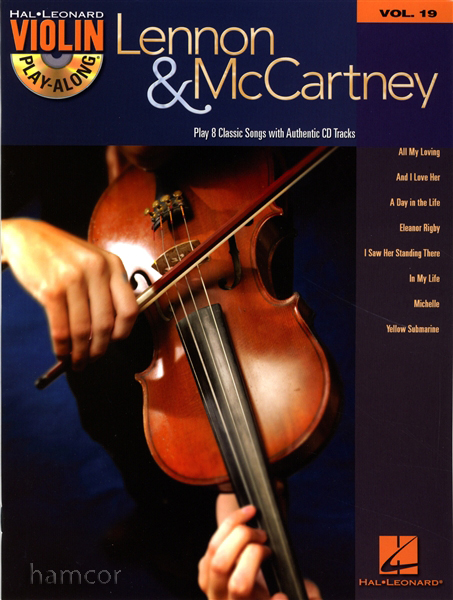 Lennon and McCartney Violin Play-Along Volume 19 Music Book with CD The Beatles Enlarged Preview