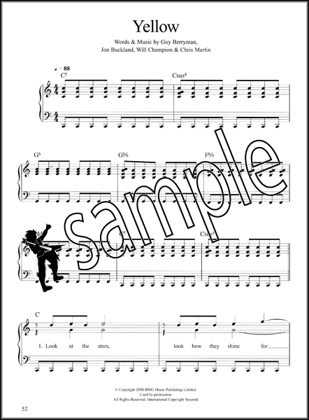 It's Easy to Play Coldplay Piano Vocal with Guitar Chords ...