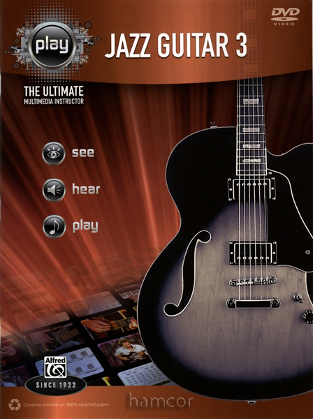 Learn to Play Jazz Guitar 3 The Ultimate Multimedia Instructor TAB Book & DVD Enlarged Preview