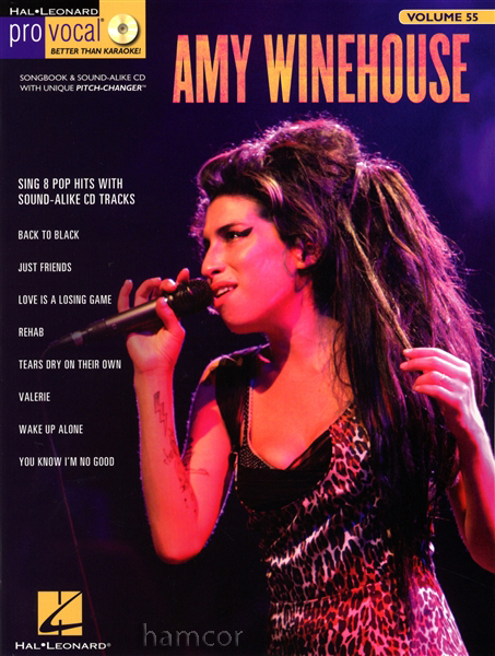 Amy Winehouse Pro Vocal Volume 55 Learn to Sing 8 Pop Hits Music Book & CD Enlarged Preview